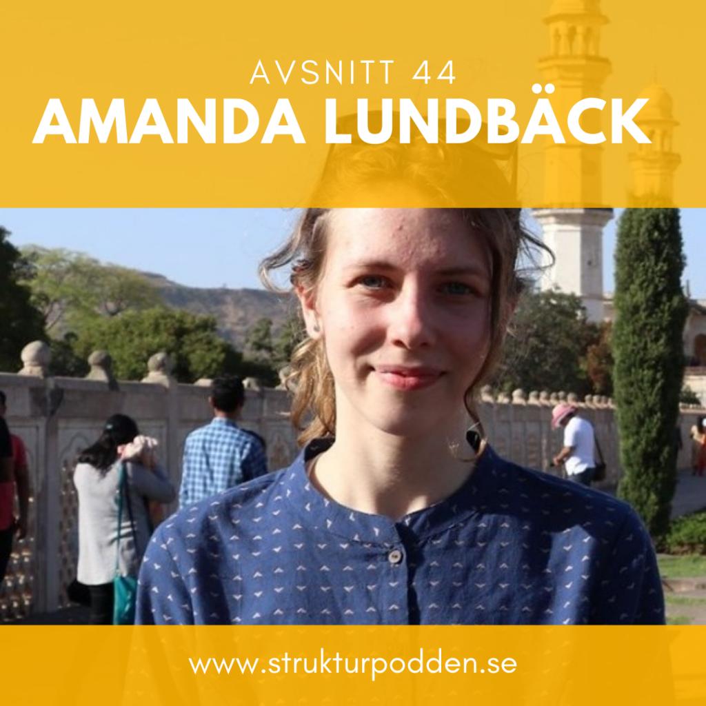 """Erika och André intervjuar Amanda Lundbäck om att leva med ADHD/ADD, om att """"flytta hem"""" till hemmet man redan bor i och att ta vara på någons arv på ett konstnärligt sätt."""